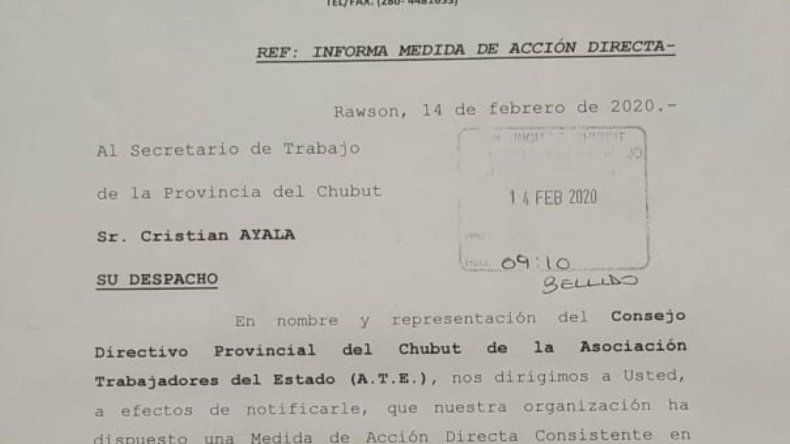 ATE paraliza la administración provincial por 48 horas