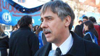 Raúl Belcastro, secretario general de SITRAJUCh. Los trabajadores nucleados en ese gremio ya cumplieron ayer dos semanas de paro ante el reclamo del pago de sus haberes.