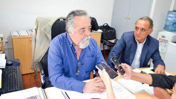 Martín Iparraguirre y José Luis González durante la conferencia de prensa de ayer.