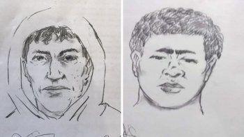 dieron a conocer los identikits de los supuestos homicidas