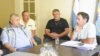 La reunión con el gerente general de Chubut Deportes se realizó el viernes en Kilómetro 3.