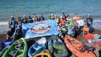 el kayak tambien fue parte de los festejos de la ciudad