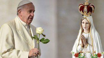 el papa invita a los comodorenses a recibir a la virgen de fatima