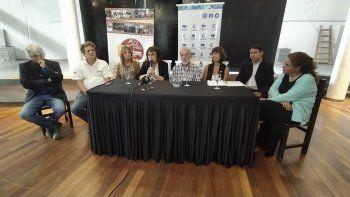 La conferencia de prensa en la que se anunciaron las actividades de mañana.