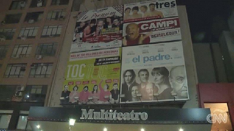 Informe de la CNN por el apagón en los teatros de calle Corrientes