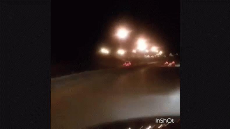 Lo escrachan circulando en contramano en plena Ruta 3