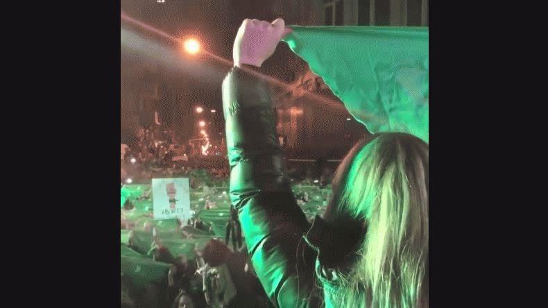 Así se vivió el debate por el aborto legal en Plaza Congreso