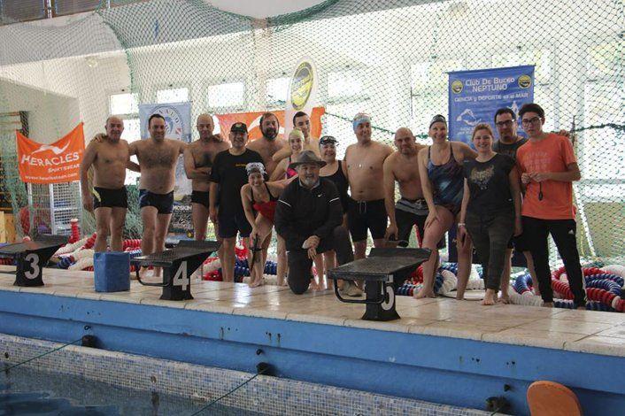 Los protagonistas de la primera fecha del Campeonato Nacional de Natación con aletas y Orientación Submarina que se realizó en la zona el último fin de semana largo.