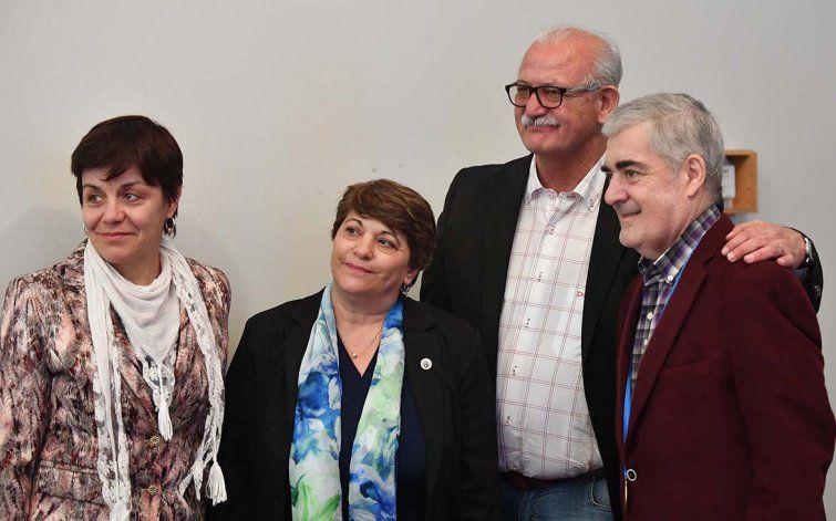 Junto al intendente Ricardo Britapaja
